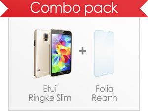 Etui Ringke Samsung Galaxy S5 - combo pack etui i folia.