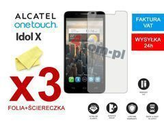 3x Folia ochronna na ekran do Alcatel One Touch Idol 6030D