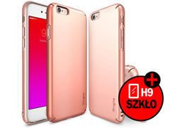 ETUI REARTH RINGKE SLIM DO IPHONE 6/ 6S ROSE GOLD + SZKŁO