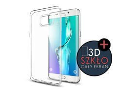 ETUI SGP SPIGEN Liquid Crystal do Samsung Galaxy S6 Edge +/plus Crystal Clear + Szkło 3D
