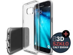 Etui Rearth Ringke Air Samsung Galaxy S7 Edge Crystal View + 3D CAŁE SZKŁO