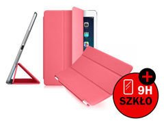 Etui Smart Cover do iPad Mini 3 2 Różowe + SZKŁO