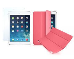 Etui Smart Cover do iPad Mini 4 Różowe + SZKŁO