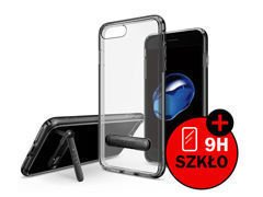 Etui Spigen Ultra Hybrid S iPhone 7 Plus Black + Szkło