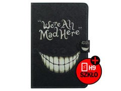 Etui ochronne dla Samsung Galaxy Tab 3 Lite t110 We're All Mad Here + Szkło