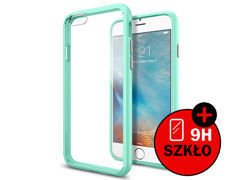Etui spigen ultra hybrid iPhone 6 / 6s Mint + Szkło