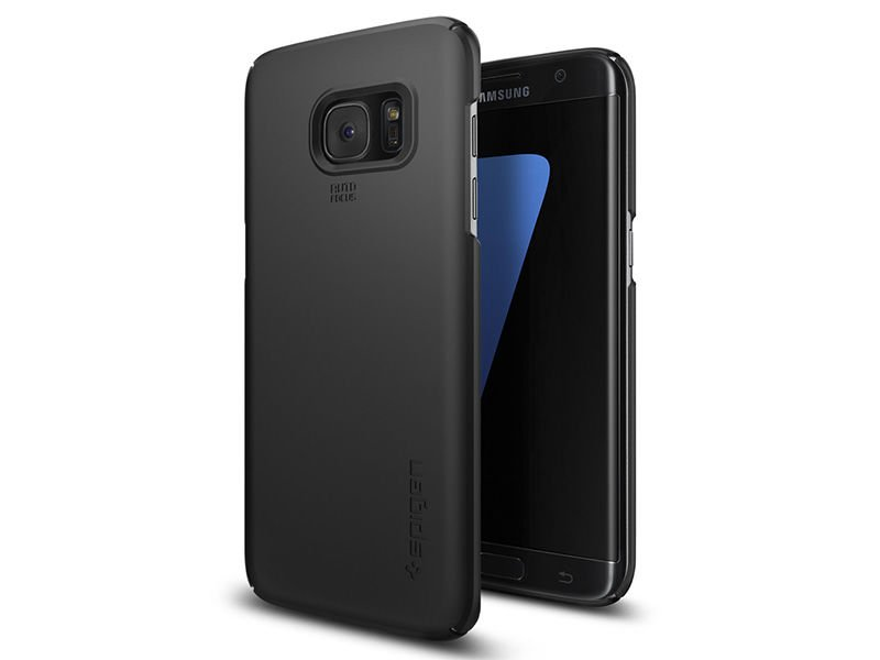 etui spigen thin fit samsung galaxy s7 edge black. Black Bedroom Furniture Sets. Home Design Ideas