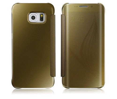 etui clear view cover samsung galaxy s6 edge z ote. Black Bedroom Furniture Sets. Home Design Ideas