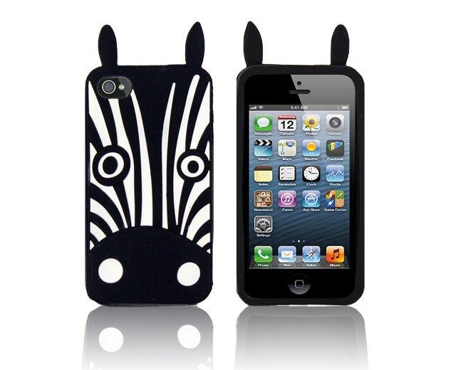 etui silikonowe 3d zebra marvin iphone 5 5s. Black Bedroom Furniture Sets. Home Design Ideas