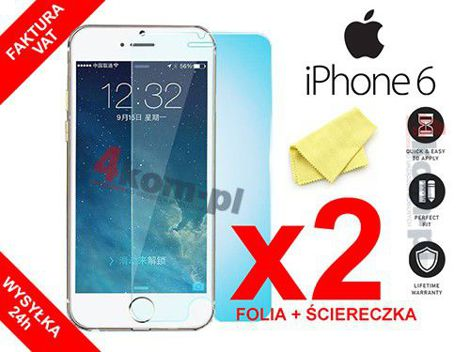 2x Folia ochronna na ekran do iPhone 6 6S