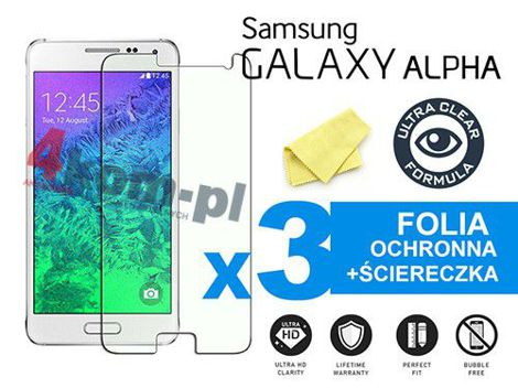 3x Folia ochronna na ekran do Samsung Galaxy Alpha