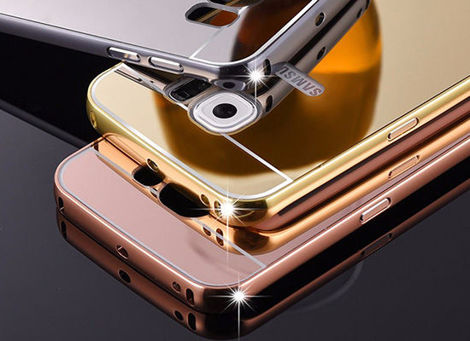 ETUI BUMPER PLECKI MIRROR DO GALAXY S7 Edge Czarne