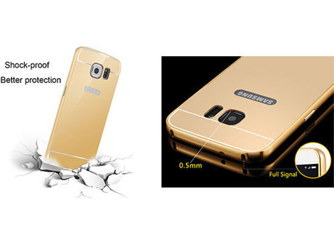 ETUI BUMPER PLECKI MIRROR DO GALAXY S7 SREBRNE