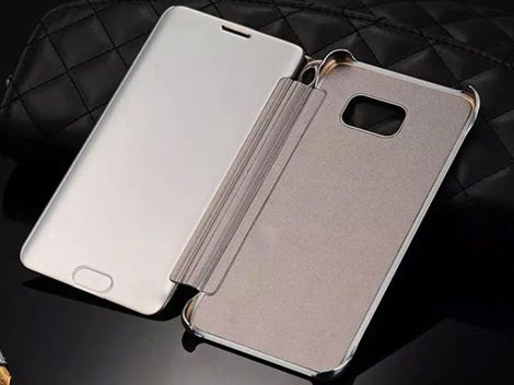 ETUI CLEAR VIEW COVER SAMSUNG GALAXY A5 2016 CZARNE