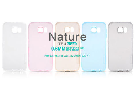 ETUI NILLKIN NATURE SILIKON 0.6MM SAMSUNG Galaxy S6 White
