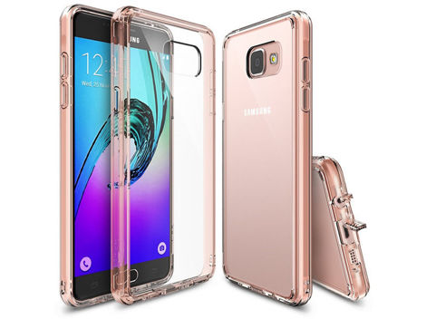 ETUI REARTH RINGKE FUSION SAMSUNG GALAXY A3 2016 ROSE GOLD CRYSTAL