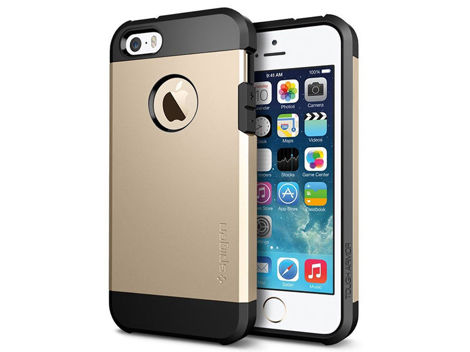 ETUI SPIGEN TOUGH ARMOR IPHONE SE/5S/5 CHAMPAGNE GOLD