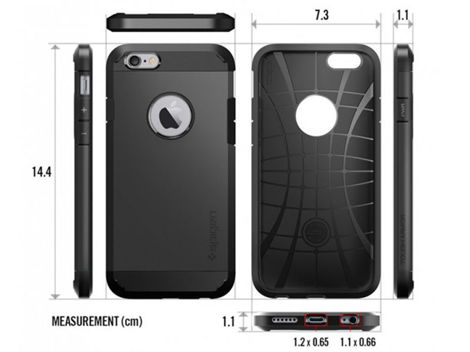 ETUI SPIGEN TOUGH ARMOR IPHONE SE/5S/5 SMOOTH BLACK+ SZKŁO HARTOWANE