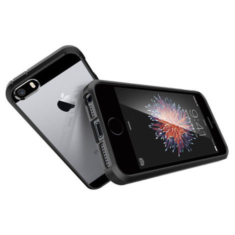 ETUI SPIGEN ULTRA HYBRID DO IPHONE 5 5S SE BLACK + SZKŁO