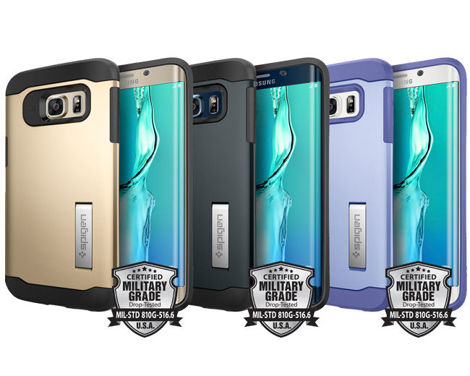 ETUI Spigen SGP Slim Armor do samsung galaxy S6 edge + Plus METAL SLATE + Szkło 3D