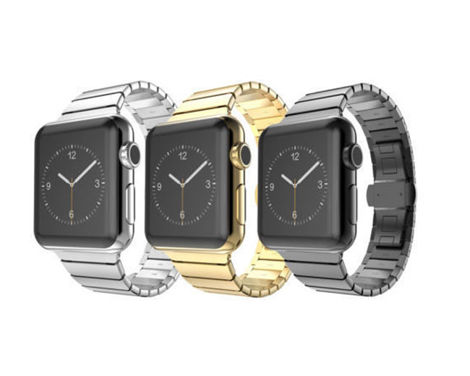 Elegancka bransoleta metal do Apple Watch Lock Loop 38mm ZŁOTA