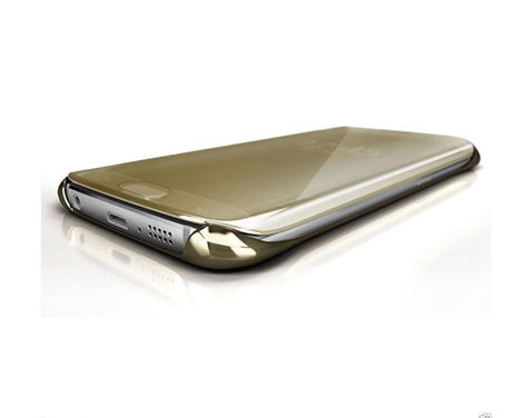 Etui Clear View cover Samsung Galaxy S6 Edge Plus Granatowe
