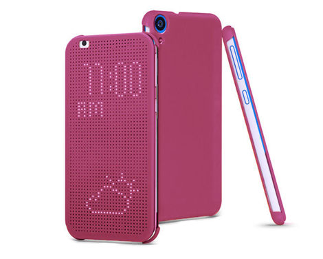 Etui Flip Cover Dot View HTC Desire 820 FIOLETOWE