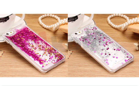 Etui Liquid Stars Gwiazdki do Apple iPhone 6/6s SREBRNE