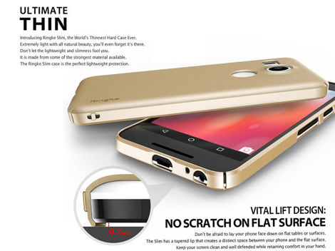Etui Rearth Ringke Slim Nexus 5x Royal Gold