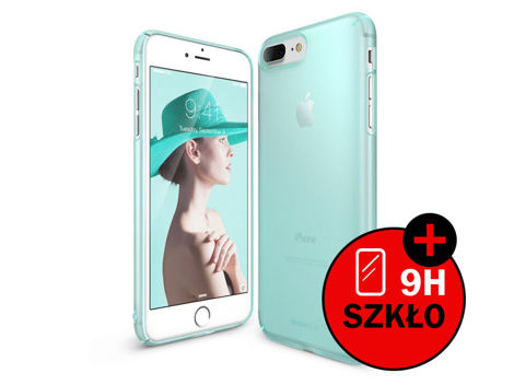 Etui Ringke Slim Apple iPhone 7 Plus Frost Mint + Szkło