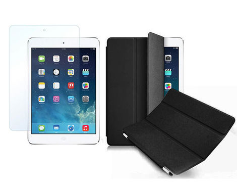 Etui Smart Cover do iPad Mini Czarne + SZKŁO