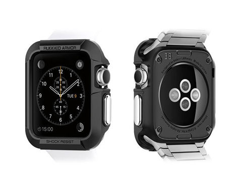 Etui Spigen Rugged Armor Apple Watch 38 mm Black