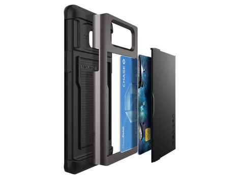 Etui Spigen Slim Armor Cs Card Slider Samsung Galaxy Note 7 Gunmetal + Szkło