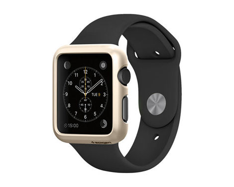 Etui Spigen Thin Fit Apple Watch 38 mm Champagne Gold