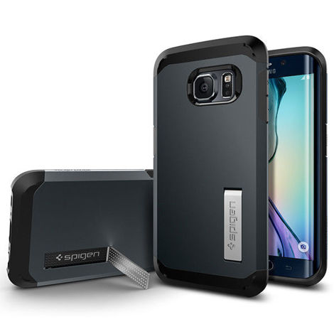 Etui Spigen Tough Armor Samsung Galaxy S6 Edge Metal Slate