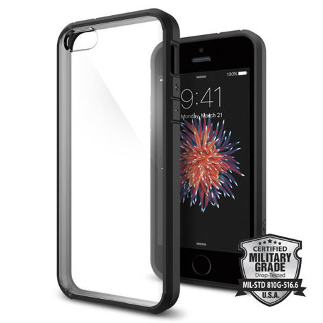 Etui Spigen Ultra Hybrid Apple iPhone 5/5s Black