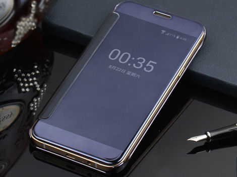 Etui clear view cover samsung galaxy s7 granatowe