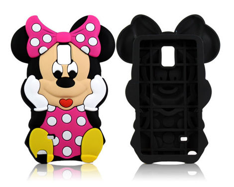 Etui silikonowe 3D Minnie Samsung Galaxy Note 4