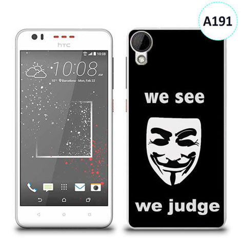 Etui silikonowe z nadrukiem HTC DESIRE 825 - we see we judge