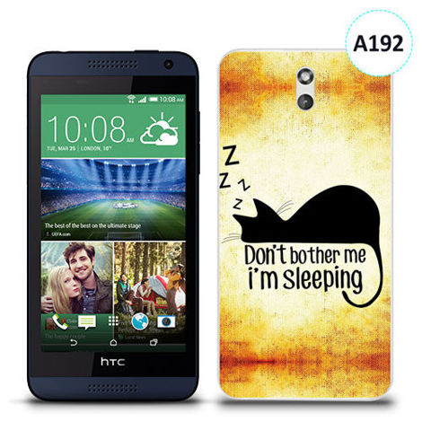 Etui silikonowe z nadrukiem HTC Desire 610 - don't bother me i'm sleeping