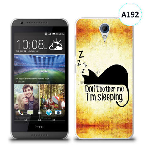 Etui silikonowe z nadrukiem HTC Desire 620 - don't bother me i'm sleeping