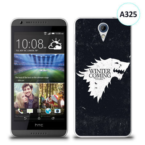 Etui silikonowe z nadrukiem HTC Desire 620 - gra o tron winter is coming