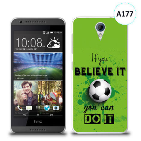 Etui silikonowe z nadrukiem HTC Desire 620 - if you believe it you can do it