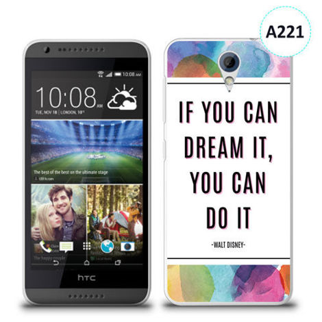 Etui silikonowe z nadrukiem HTC Desire 620 - if you can dream it you can do it