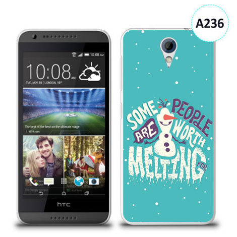 Etui silikonowe z nadrukiem HTC Desire 620 - olaf some people are worth melting