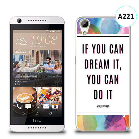 Etui silikonowe z nadrukiem HTC Desire 626 -  if you can dream it you can do it
