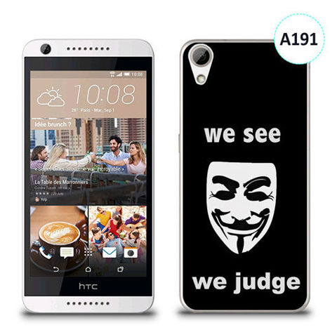 Etui silikonowe z nadrukiem HTC Desire 626 - we see we judge