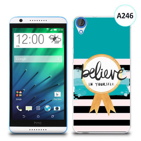 Etui silikonowe z nadrukiem HTC Desire 820 - believe in yourself