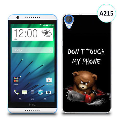 Etui silikonowe z nadrukiem HTC Desire 820 - don't touch my phone bear
