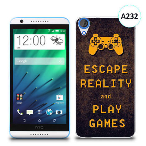 Etui silikonowe z nadrukiem HTC Desire 820 - escape reality and play games